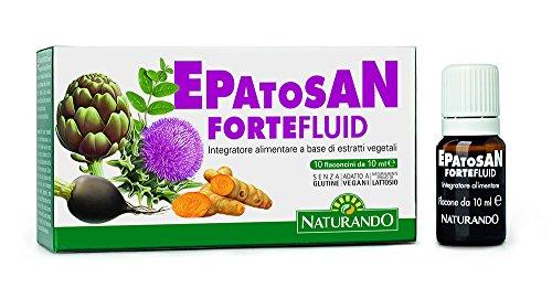 Naturando Epatosan Forte Fluid 10 Flaconcini. Nutraceutico per Depurare e Disintossicare il Fegato