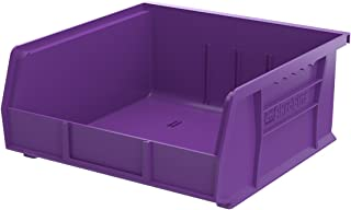 $67 » Akro-Mils 30235 Plastic Storage Stacking Hanging Akro Bin,11-Inch by 10-7/8-Inch by 5-Inch , Purple, 6-Pack
