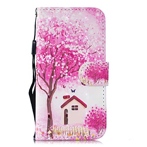 BestCatgift [3D Painted] Galaxy S8 Plus Magnetic Wallet Phone Custodia With [Wrist Strap] PU Leather Flip Protective Cover per Samsung S8 Plus/S8+ SM-G955 - Tree House