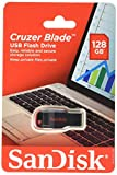 SanDisk Cruzer Blade USB Flash Drive, 128 GB, Black/Red (SDCZ50-128G-A46)