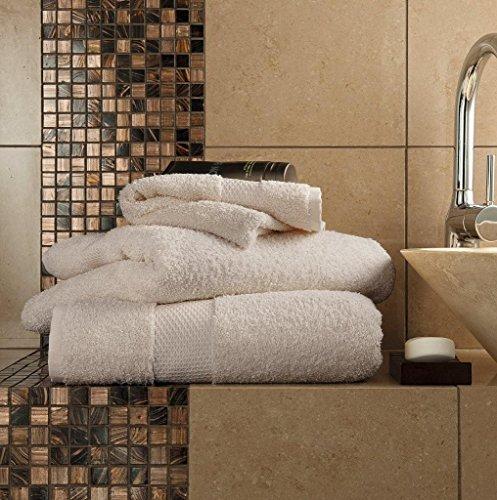 Gaveno Cavailia - Toalla de Mano (algodón Egipcio, Absorbente, 700 g/m², 4 Unidades, 50 x 85 cm), Color marrón