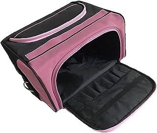 حقيبة تصفيف الشعر أنيقة أدوات الحلاق حقيبة تخزين محمولة للسفر صندوق حمل ماكياج لخلع الملابس