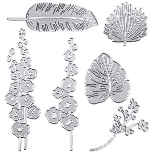 Cutting Dies Metal, Leaf and Flower Embossing Stencils for DIY Scrapbooking Photo Album Decorative DIY Paper Cards Making Gift, Metallic Die Cut