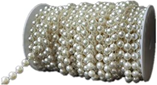 Ambox 10 mm Large Ivory Pearls Faux Crystal Beads by The Roll for Flowers Wedding Party Decoration