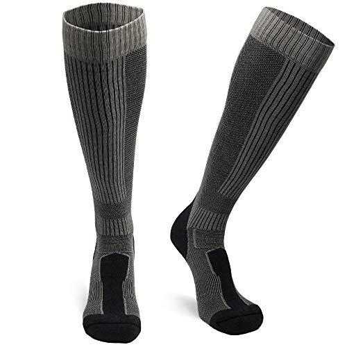 Merino Wool Long Knee-high (Grey 1 Pair, US Women 8-10 // US Men 6.5-8.5)