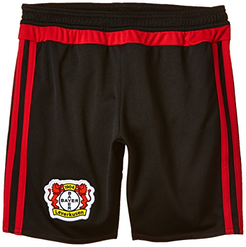 adidas Kinder Shorts Bayer 04 Leverkusen Home, Black/Scarlet, 164