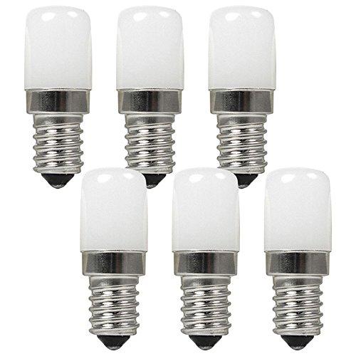 Granvoo 6-er Pack E14 2W Warmweiß LED Licht mit PC 5X SMD AC 220-240V