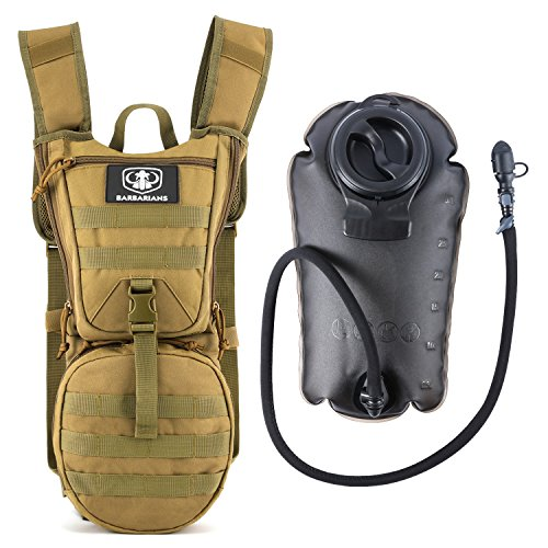 Gonex Trinkrucksack mit 3 L Trinkblase, Barbarians Taktischer Hydrapack mit Trinkschlauchperfekt für Wandern Radfahren Joggen, Spazieren Klettern und Bergsteigen Gelb