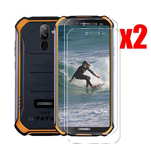 QFSM 2 Pack Película Protectora para DOOGEE S40, Resistente al Desgaste Protector de Pantalla para teléfono móvil Vidrio Templado