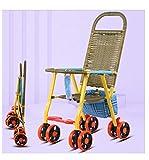 JKNMRL Cochecito Plegable, Transporte para niños, con Bolsa de Almacenamiento y diseño de apoyabrazos Suave
