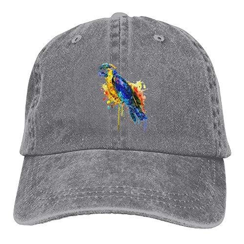 lanka Baseballkappe mit Wasserfarben-Papageien-Motiv, Unisex, gewaschen, verstellbar, modisch