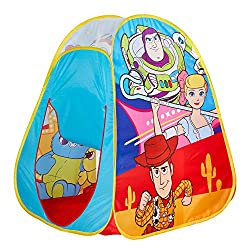 Colourful pop up play tent Pops up in seconds - no poles required Sparks imagination and encourages active play Ideal for active adventures, inside and out Folds flat for simple storage