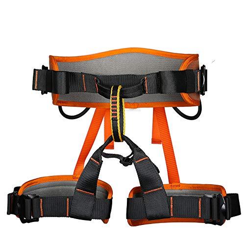 CWWHY Cinturón Arnés Escalada,Profesional Al Aire Libre Equipo De Protección Segura,para Montañismo Expansión De Banda Externa Entrenamiento De Escalada En Roca Equipo,Orange