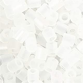 Fuse Beads, size 5x5 mm, hole size 2,5 mm, transparent clear (50), medium, 6000pcs