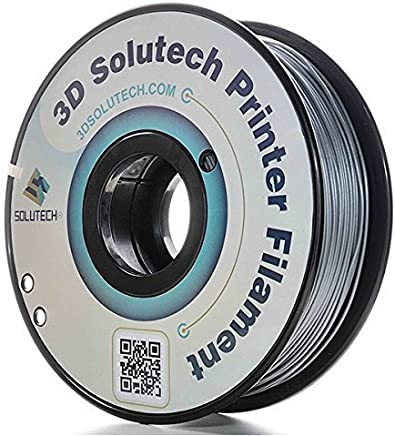 3D Solutech Silver Metal 3D Printer PLA Filament 1.75MM Filament, Dimensional Accuracy +/- 0.03 mm, 2.2 LBS (1.0KG) - PLA175TCMS