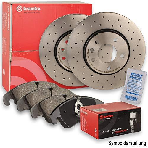 BREMBO XTRA LINE Sport Bremsscheiben Ø253mm gelocht + BREMBO Bremsbeläge Bremsbelagsatz hinten Hinterachse