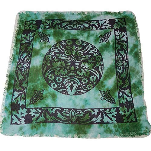 in Package Green Man Altar Cloth 18 Celtic Wicca Pagan Rayon (Symbols of Various Religions and Nations, from Christianity to Islam)