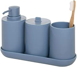 iDesign Cade Bathroom Accessories Set, 4-Piece Sink Tidy