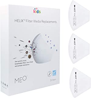 替えフィルター 装着型 ガーゼマスク マスク フィルター研究から生まれたNZ産マスク MEO kids Helixフィルター