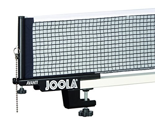 JOOLA Premium Avanti Table Tennis Net and Post Set - Portable and Easy Setup 72' Regulation Size Ping Pong Screw On Clamp Net