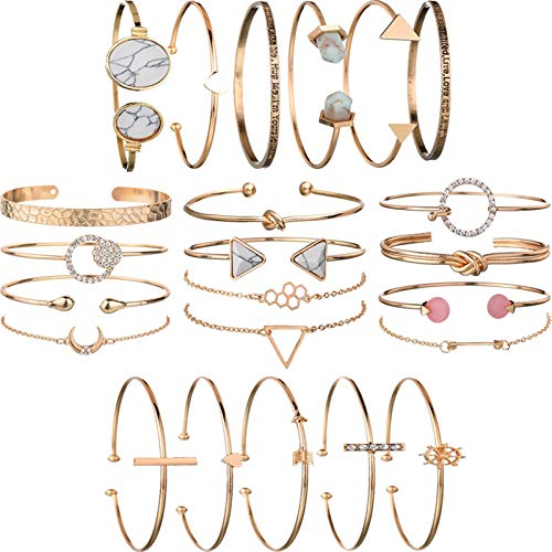 Multiple Layered Stackable Open Cuff Wrap Bangle   Amazon