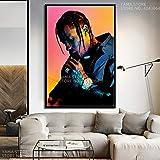 zhuziji Travis Scott Music Star Rap Hip Hop Rapero Modelo de Moda Regalo Arte de la Pared Decoración ng Cartel Lienzo50x70cm(Sin Marco)