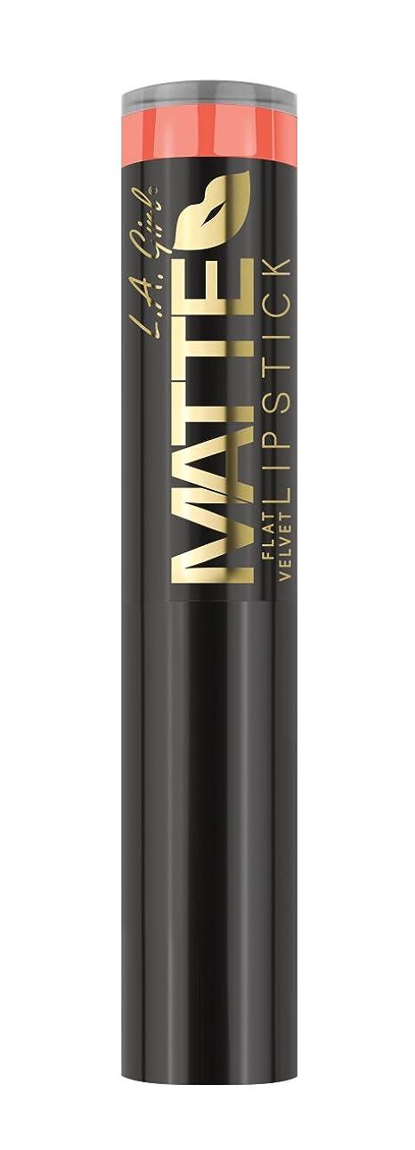 トレーニングハイランド聴覚L.A. GIRL Matte Flat Velvet Lipstick Sunset Chic (並行輸入品)