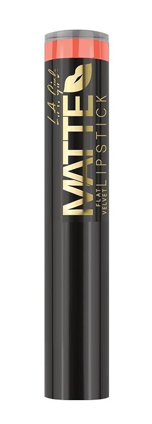 ピストルスチュワーデス費用L.A. GIRL Matte Flat Velvet Lipstick Sunset Chic (並行輸入品)