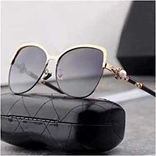 Women's Classic Polarized Sunglasses, Fashion Style, UV Protection Sunglasses (Color : Gold/Grey)