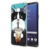 Pnakqil Funda Samsung Galaxy S8, Silicona Transparente con Dibujos Diseño Slim Gel TPU Antigolpes...