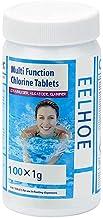 Coolga Tabletas removedoras de Algas alguicidas para Piscinas, SPA, tinas de hidromasaje, bañeras, Tratamiento de Agua, tabletas de Limpieza efervescentes para Piscinas, 100 Piezas