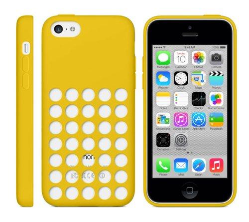 ORDEL Astuccio/Custodia In Silicone A Pois Per Apple iPhone 5C - Linea Ultraslim - Colore: Giallo