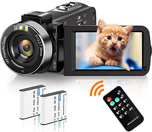 Video Camera Camcorder Weton 2.7K HD 42.0MP Vlogging Camera for YouTube 18X...
