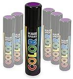KarnevalsTeufel Hairspray Color buntes Haarspray Haarschmuck farbig (Lila)