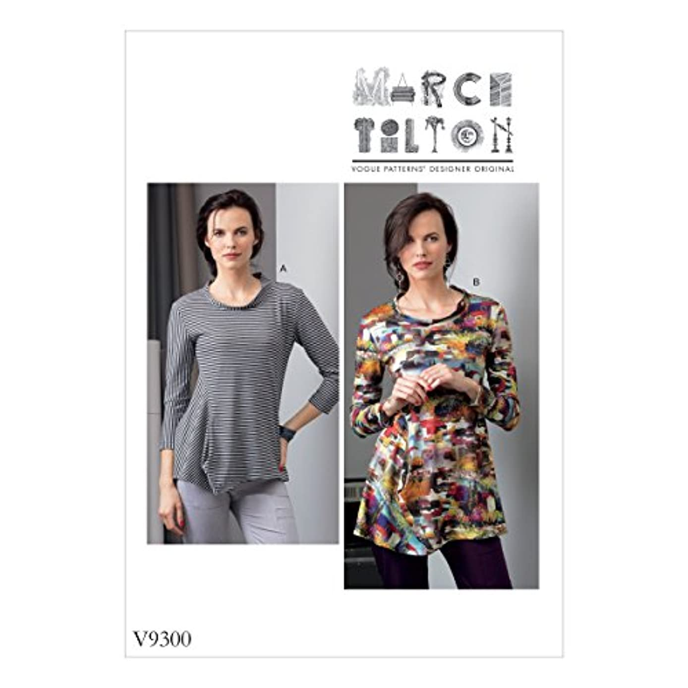 Vogue Patterns V93000Y0 Misses' Top X-Small-S-M Green