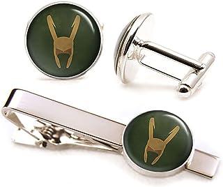Superhero Thor Retro Cufflinks Superhero Exclusive Cool Colourful Silver Wedding Prom Black Tie Gift Jewellery Accessories Men