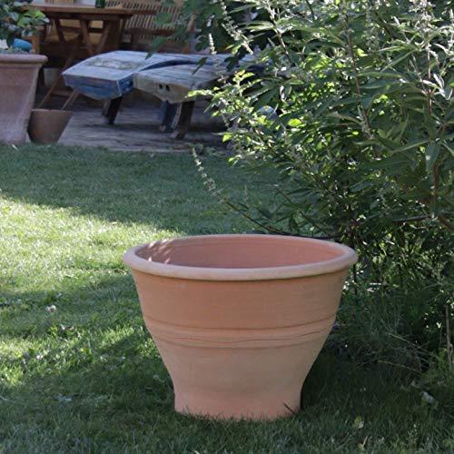 Palatina Cerámica | Gran macetero de terracota resistente a las heladas | 70 cm | Resistente al invierno | Gran maceta para jardín, terraza, balcón Artemesia