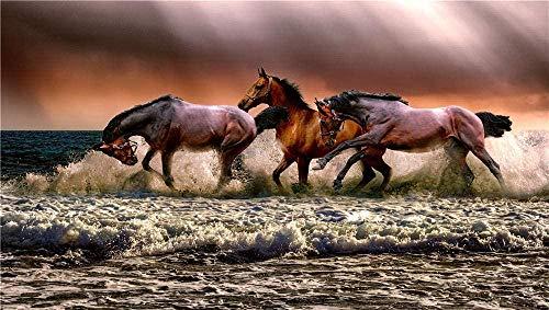 Puzzle Per 1000 Pezzi Adulti,Animal Horses Fauna Nature Cavalry,Houten Puzzel Voor Tieners, Zeer Goed Educatief Spel,Zeer Uitdagend,Uniek Verjaardagscadeau