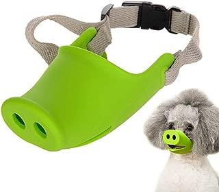 Lightton 犬 口輪 ペット用マスク ピギー口の形マスク 小型犬ペット用マスク しつけ用品 犬用無駄吠え 拾い食い 噛みつき しつけ 家具破壊防止 キズ舐め止め 口輪(S, グリーン)