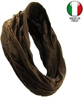 KXX-003 - Fascia per capelli bandana microfibra elastica larga cm 35 con bordi costine - made in Italy - Fasce per capelli...