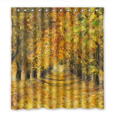 Coutume dalliy automne Saison imperméable Polyester Rideau de douche Shower Curtain 167 cm x 183 cm, Polyester, A, 66\