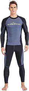 Meijunter Hommes /Élastique Anti-UV Le Surf Tuba Costume Maillot de Bain Fendu Rash Guard Wetsuit