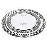 MILISTEN LP Vinilo Tocadiscos Disco Estroboscópico Disco de Calibración Fonógrafo Aguja Distancia Regla Herramienta Blanca