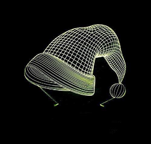 3D nouveauté USB lampe de table luminaires Led chevet bébé sommeil nuit lumière chapeau de Noël luminaires pour enfants cadeaux décoration de Noël télécommande