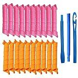Rpanle Kit de peinado de rulos en espiral Magic Curlers de 27'/ 55 cm, 20 piezas sin rizadores de...
