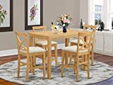5 Pc counter height Dining set - high top Table and 4 Dining Chairs.