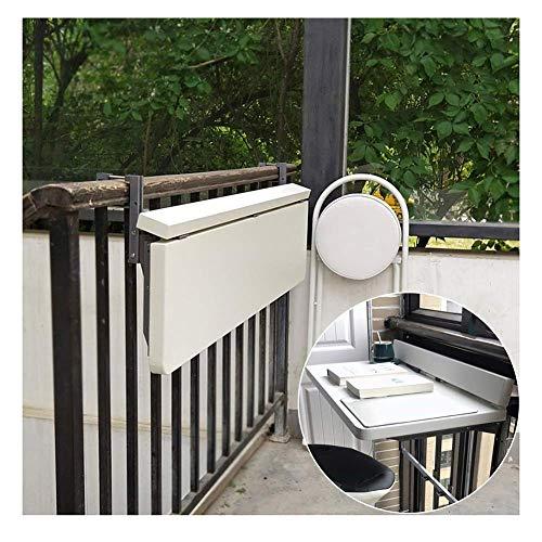 XCJJ Barandillas de balcón Mesa plegable colgante, diseño creativo adecuado para escritorios, mesas de comedor, mesas de ocio, otros espacios al aire libre no se oxida fácilmente, tamaño reducido, 12