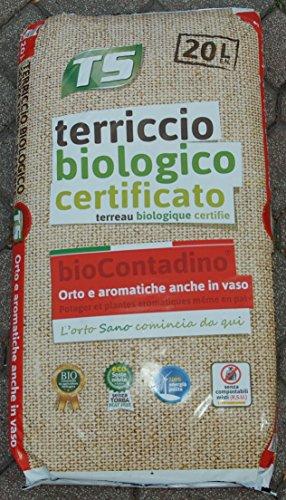 TERRICCIO BIOLOGICO CERTIFICATO PER ORTAGGI E AROMATICHE (20 LT)