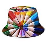 Trushop Unisex Rainbow Pencil Sun Hat Sombrero de Pescador para Hombres Mujeres, Protección UV Empacable Senderismo al Aire Libre Pesca Caza Viaje Cubo de Playa Tapa Lavada