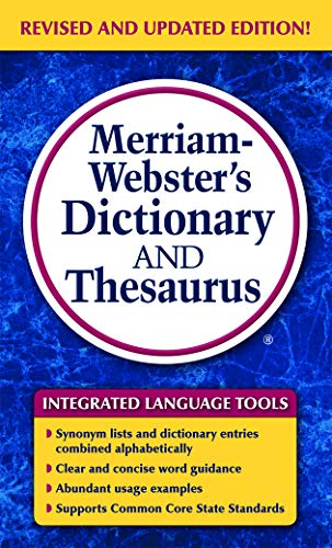 Merriam-Webster's Dictionary and Thesaurus, Mass-Market Paperback